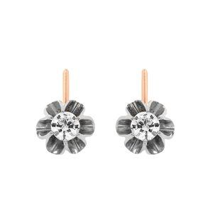 0.83 Carat Diamond Vintage Leverback Earrings